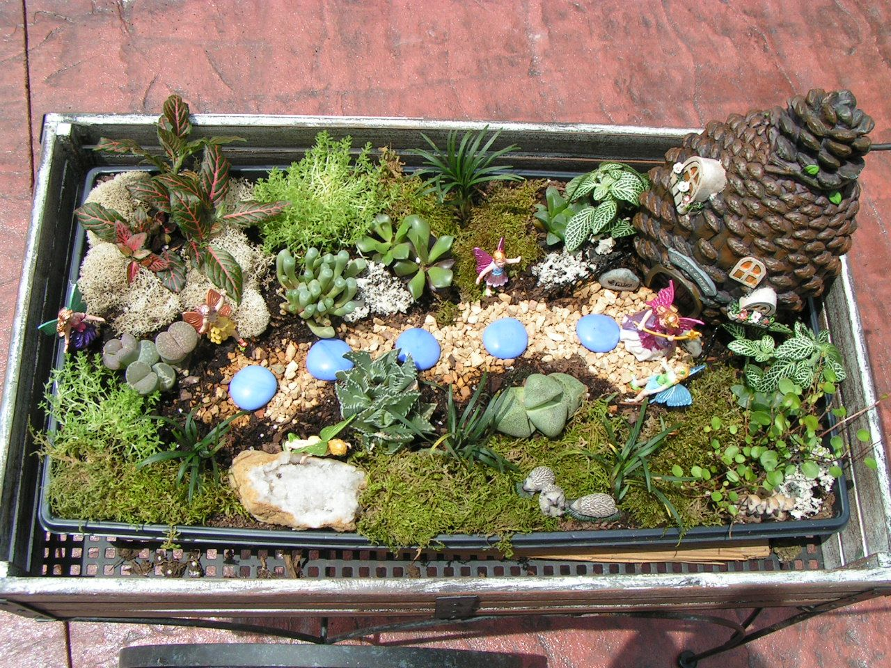 Pinner Says Fairy Garden Found The Cart Fairies At Hobby Lobby Tray Plants Soil Home Depot So Easy And Cute