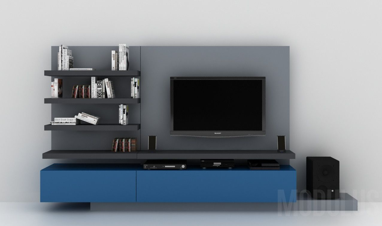 Modulares para living tv lcd led wall unit muebles for Muebles modernos para living