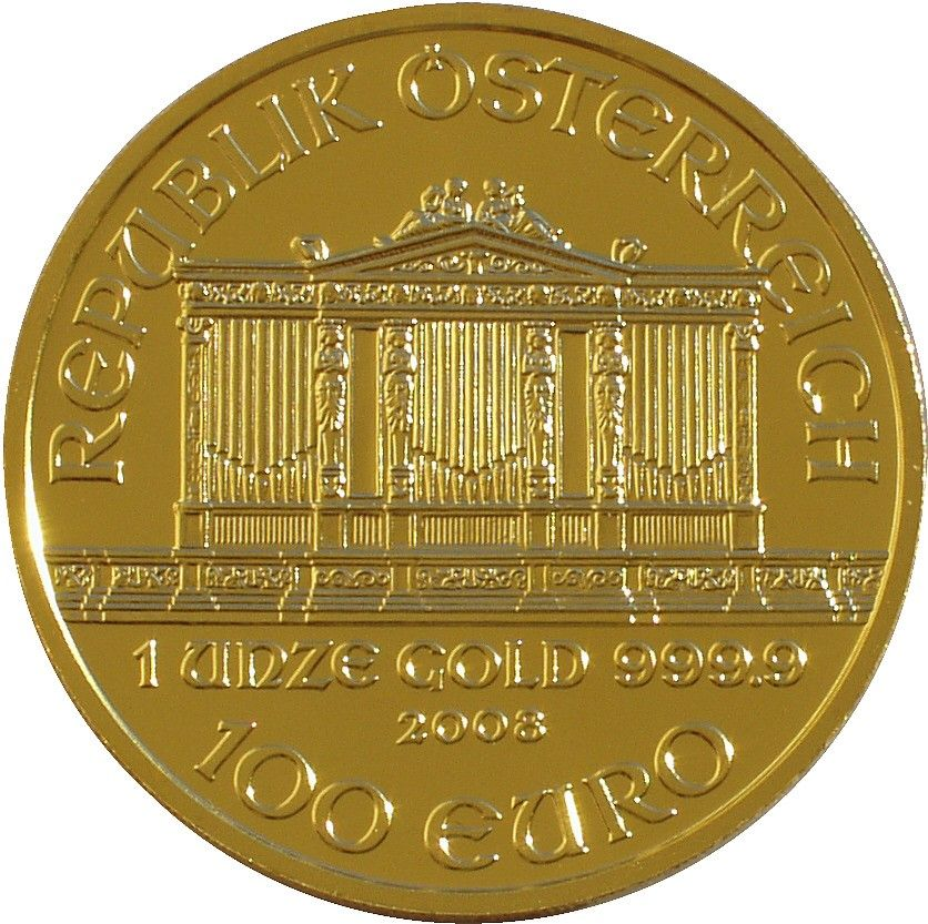1 Oz Austrian Philharmonic 2000 Schilling Gold Coin Gold Bullion Coins Gold Bullion Bars Gold Coins