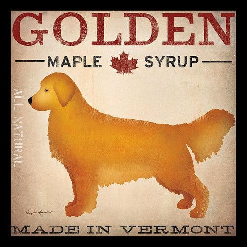 Golden Maple Syrup Company Vermont By Ryan Fowler Framed Vintage