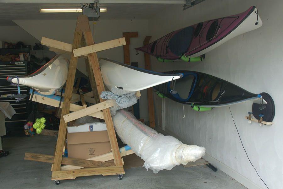 Image result for Wooden Kayak Rack Plans   Kayak storage ...