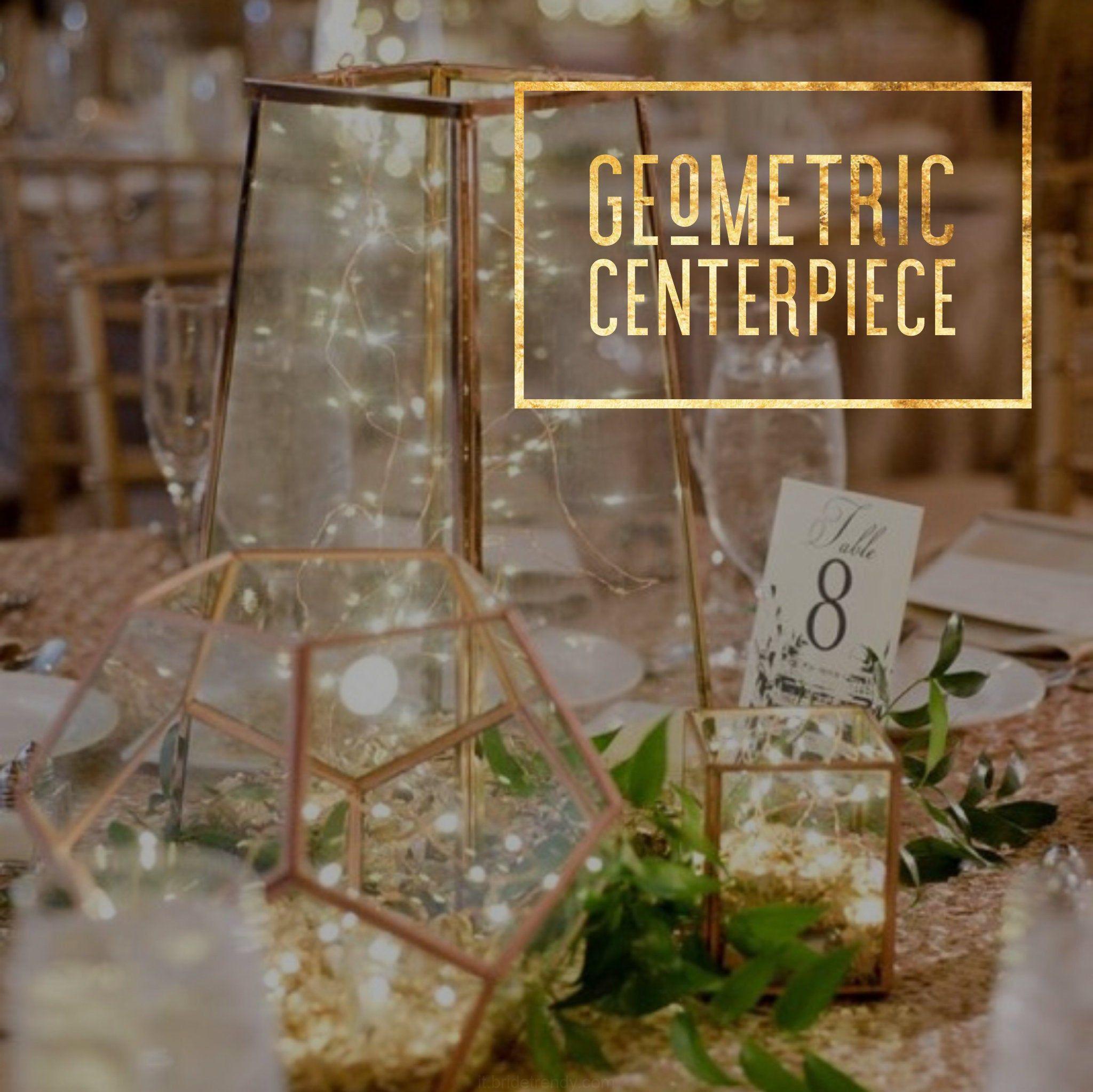 Centro Tavolo In Vetro.Vetro Geometriche Terrario Geometriche Centro Tavola Di Nozze