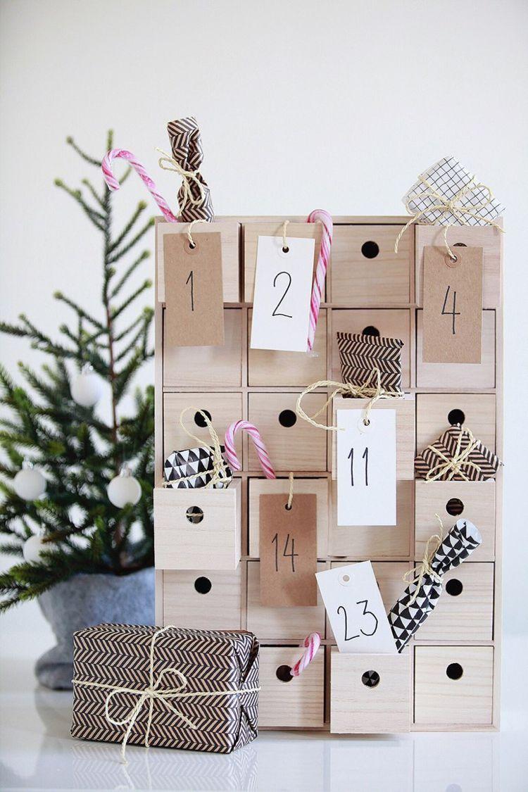 Hochwertig Adventskalender Selber Basteln Holz Schubladen Deko #weihnachtsdeko #ideen  #christmasdecoration #calendars
