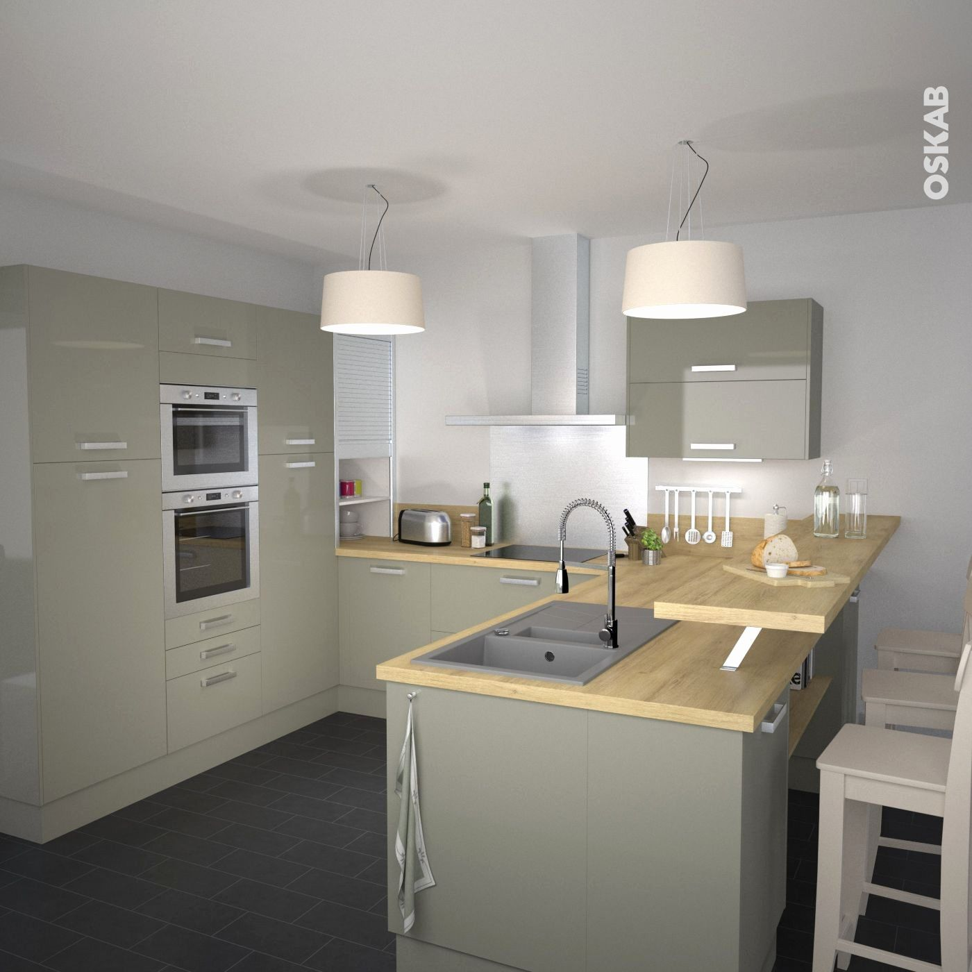 Fresh cuisine en u avec ilot central cuisine cuisine ouverte cuisine ouverte sur salon et - Cuisine en u avec ilot central ...