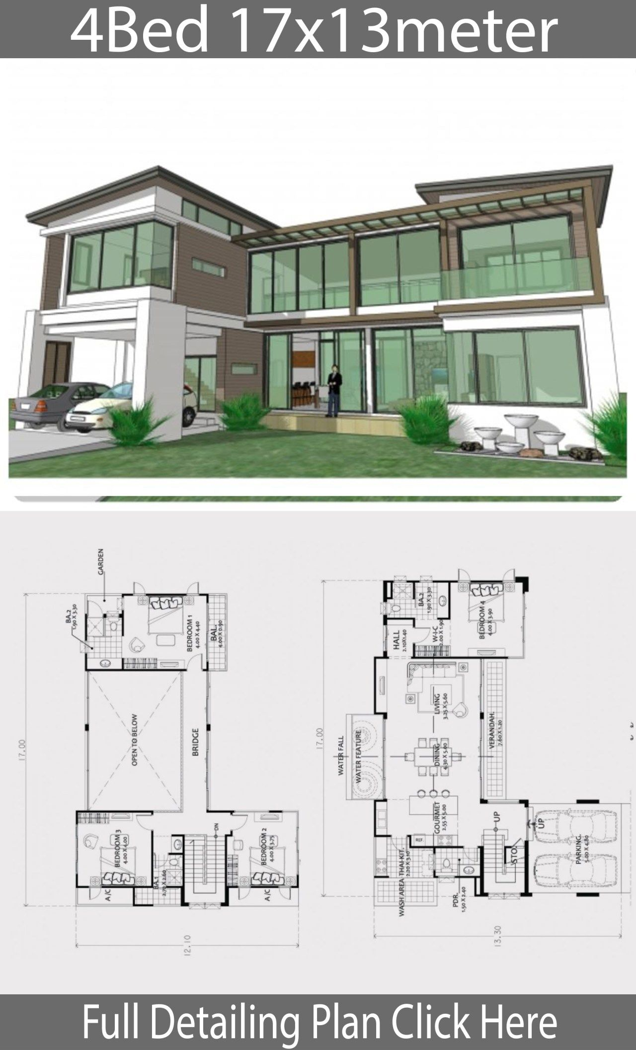 Home Design Plan 17x13m With 4 Bedrooms Home Ideas Beautiful House Plans Two Story House Design Home Design Plan