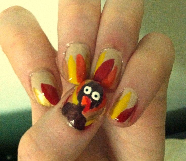 Thanksgiving Nails Thanksgiving Turkey Themed Nails Nail Art