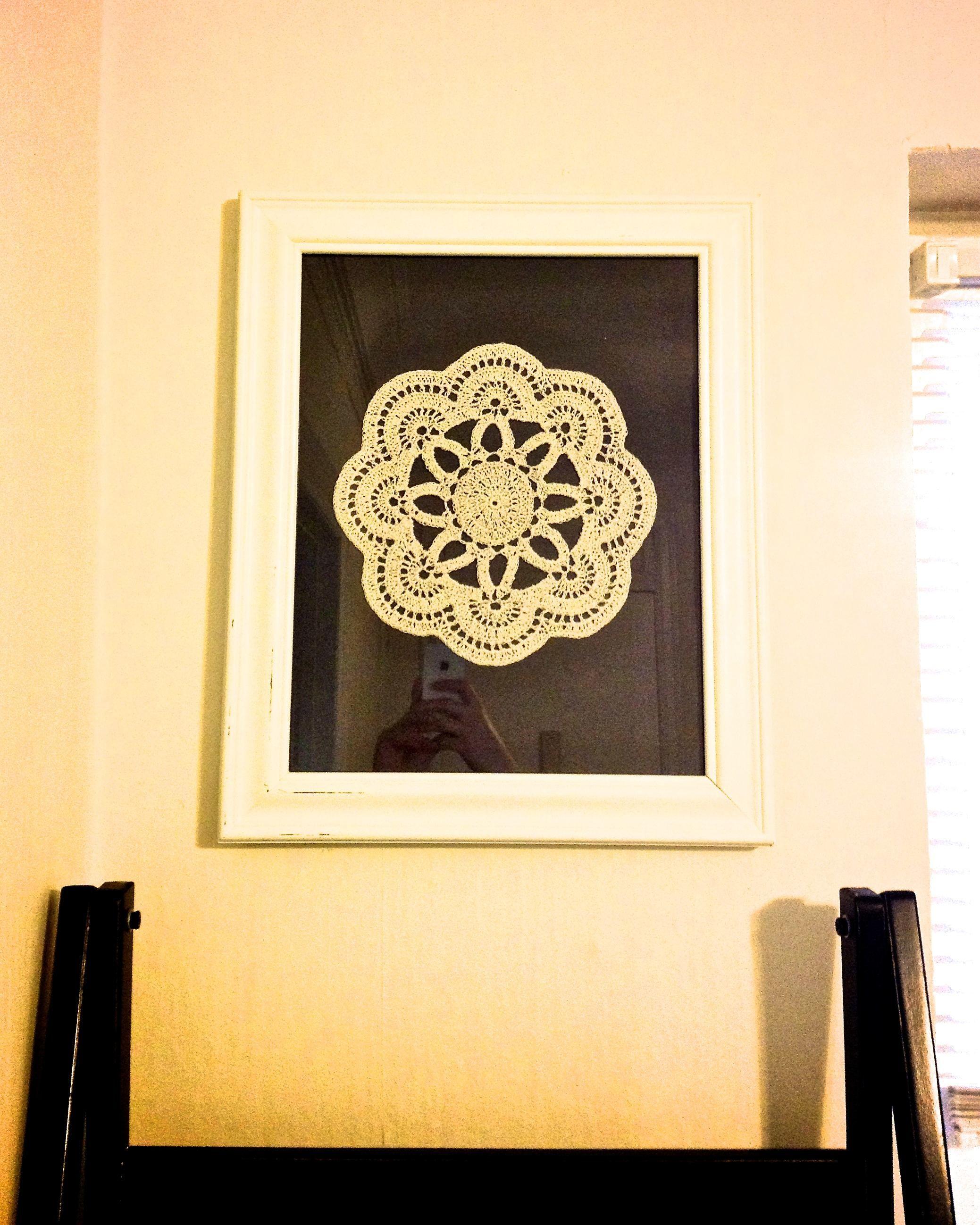 DIY Doily Wall Art/ Салфетка как Картина   Home Sweet Home ...