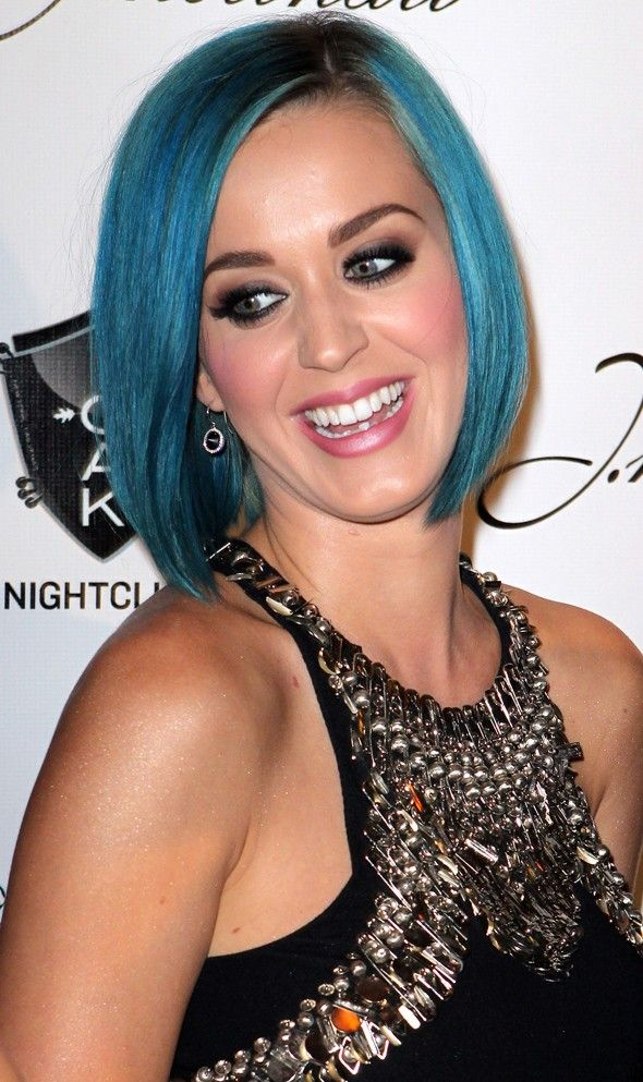 Blue Hair Don T Care Katy Perry Celebrity Hairstyles Katy Perry Hot