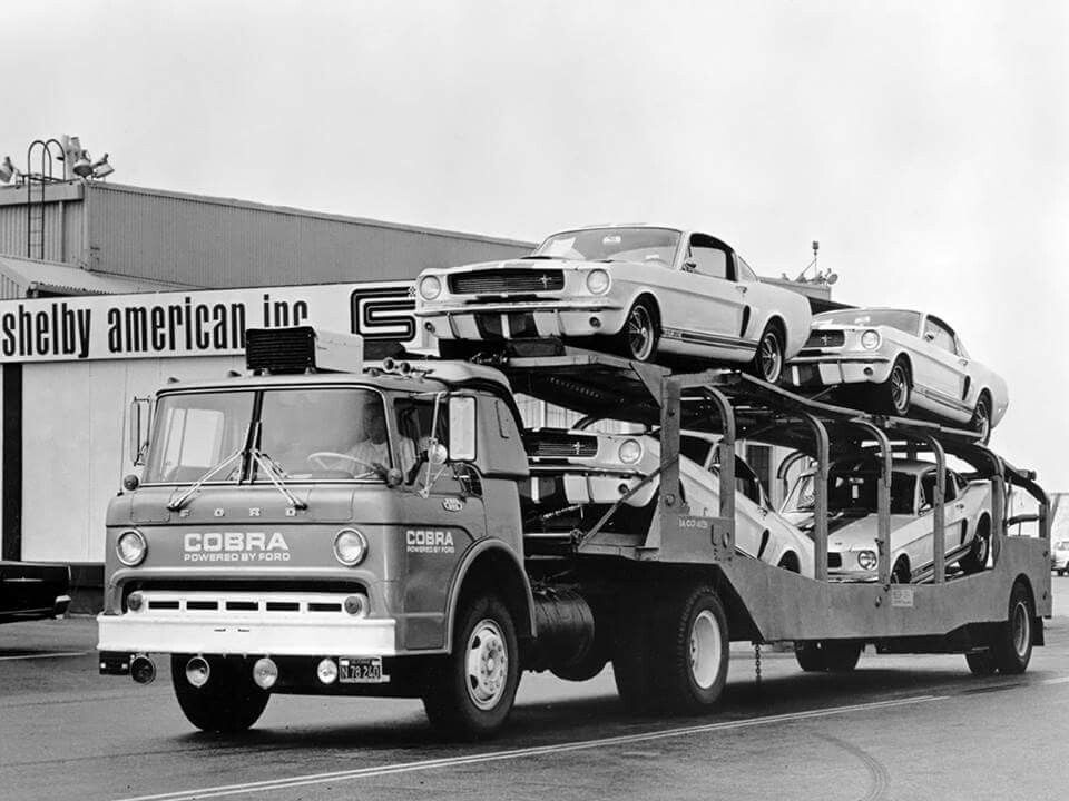 Shelby Mustamg On Shelby Cobra Truck Hauler Mustang Mustang Shelby Vintage Muscle Cars