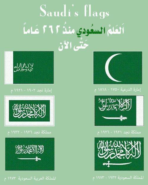 مراحل تغير العلم السعودي Saudi Flag National Day Saudi Saudi Arabia Flag