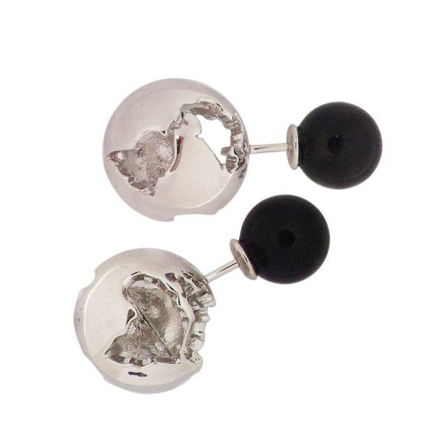 Artelier FW14 jewelry earrings Gold White pearl Globe and pearl earrings