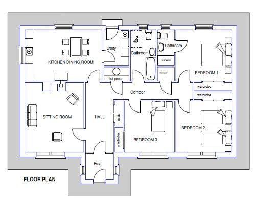 Irish Bungalow Floor Plan Bungalow Floor Plans Home Design Plans House Plans
