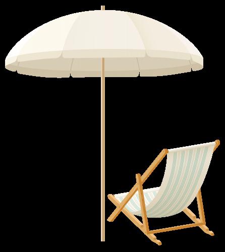 Beach Umbrella With Chair PNG Clip Art