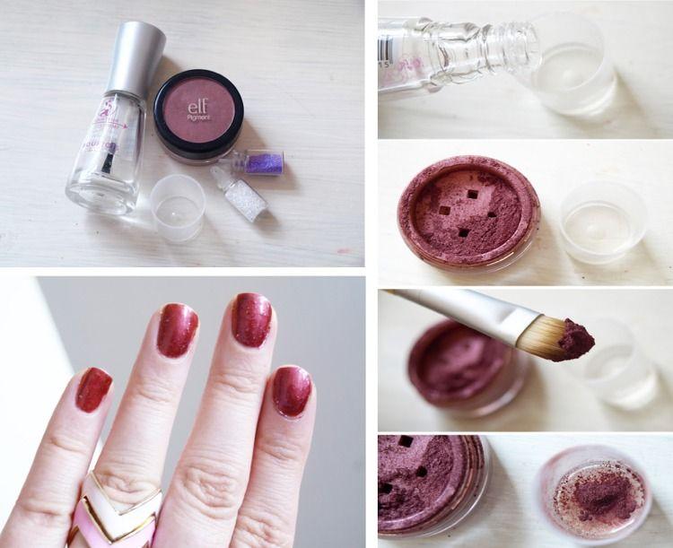Nagellack selber machen   Nail polish, Nail tips, Eye makeup