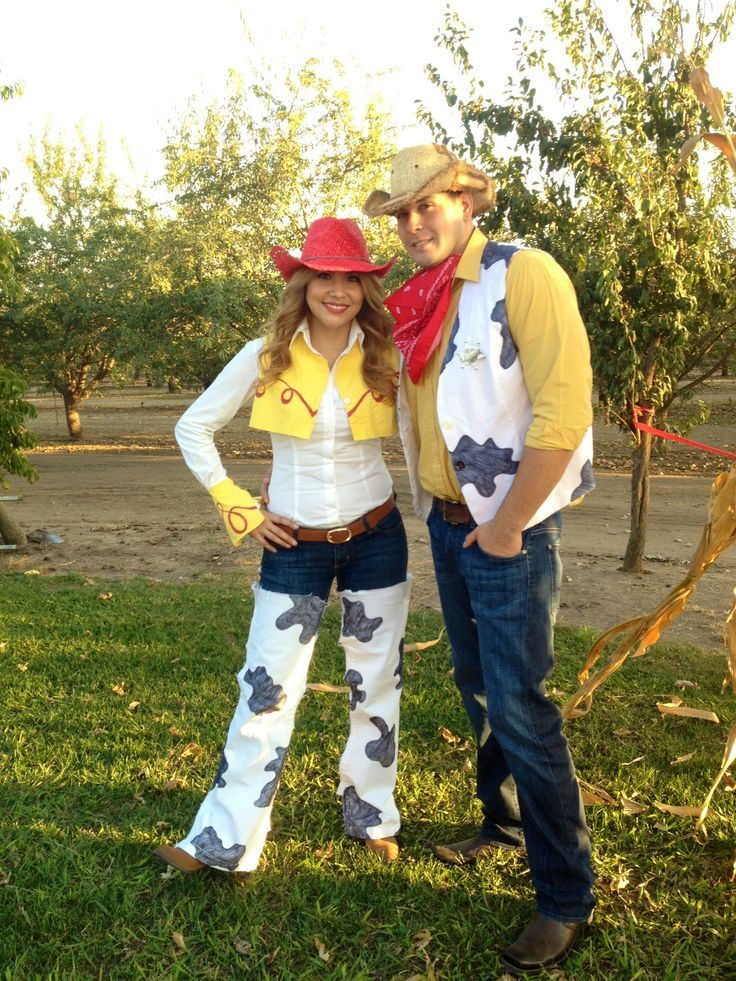 Homemade Jessie Costume | DIY Jessie and Woody Costumes  sc 1 st  Pinterest : jessie and woody halloween costumes  - Germanpascual.Com