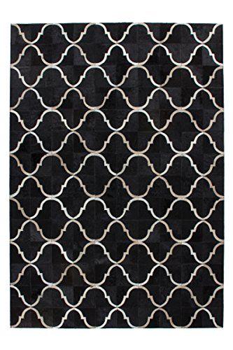 Teppich Wohnzimmer Lederteppich Carpet modernes Design RUG Lavish