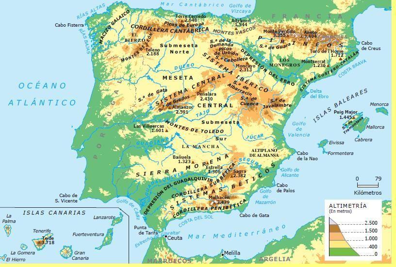 Juegos Mapa Politico De Espana.Relieve De Espana 3 Juegos Interactivos Para Repasar Aprendiendo Con Julia Mapa Fisico De Espana Mapa De Espana Relieve Espana