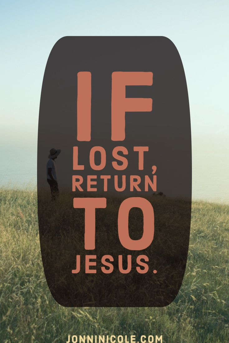 If lost..