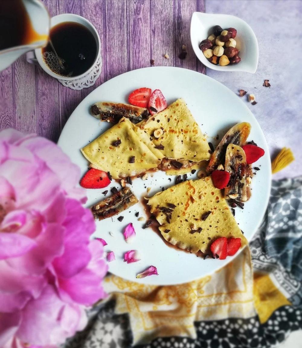 Crêpes « Minute » [sans gluten] & ice cream banana/coffee