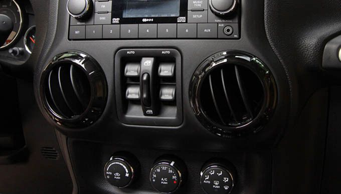 Interior Accessories For Jeep Wrangler Central Controller Dashboard Air Conditioning Vent Cover