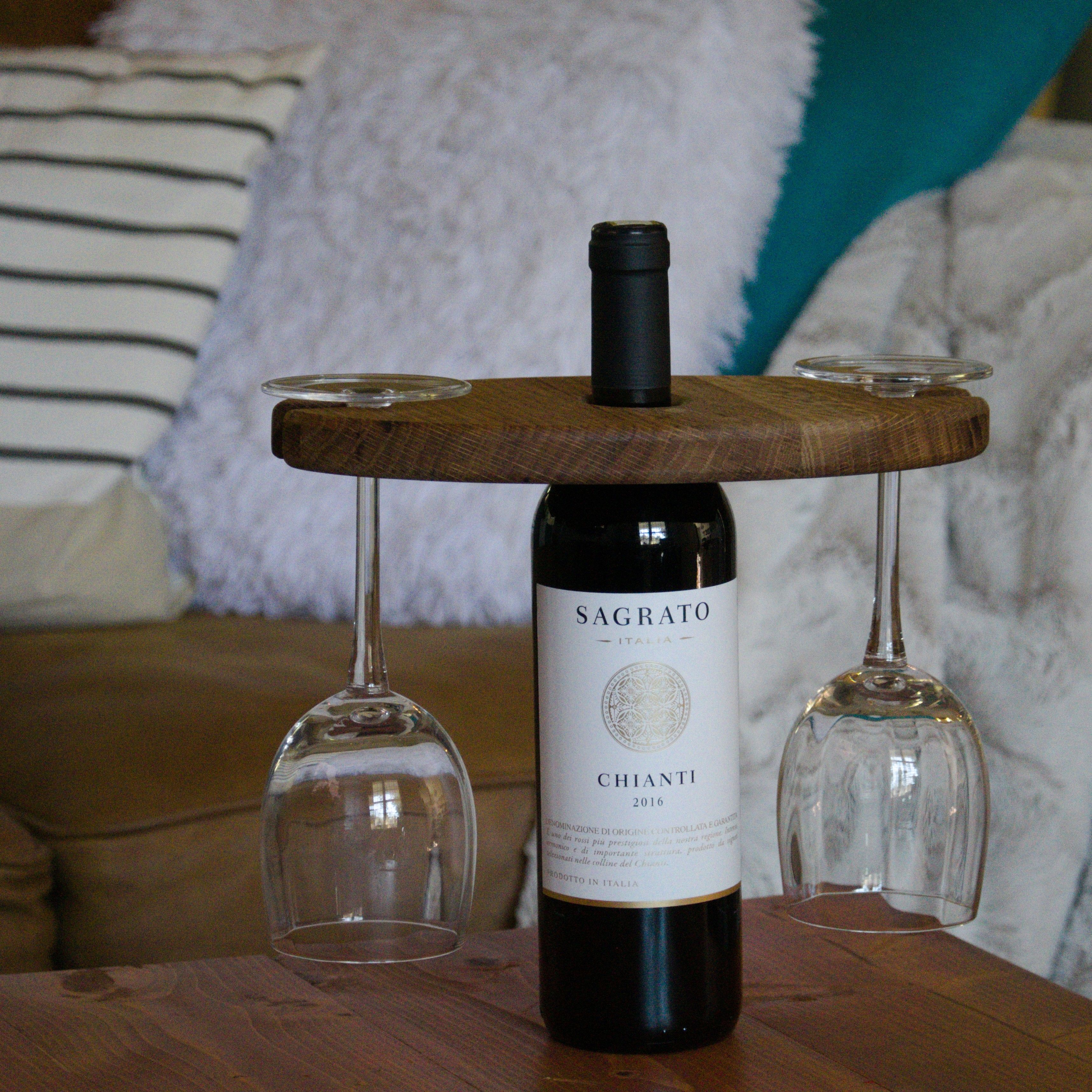 Wine And Glass Holder Display Wine Bottle Glass Holder Recycled
