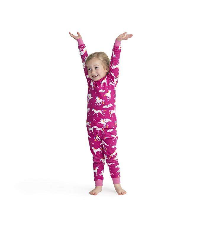 24ee68061d4a0f Hatley Girl's Organic Cotton Long Sleeve Printed Pyjama Sets: Amazon.co.uk: