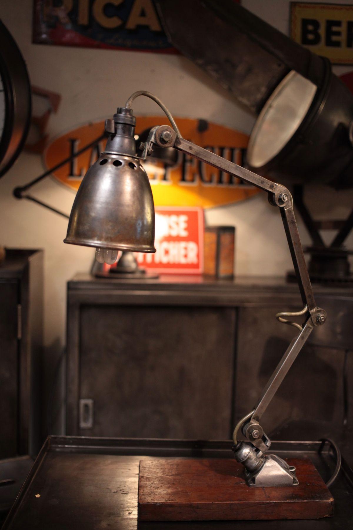 lampe d 39 atelier ancienne style jielde deco loft meuble. Black Bedroom Furniture Sets. Home Design Ideas