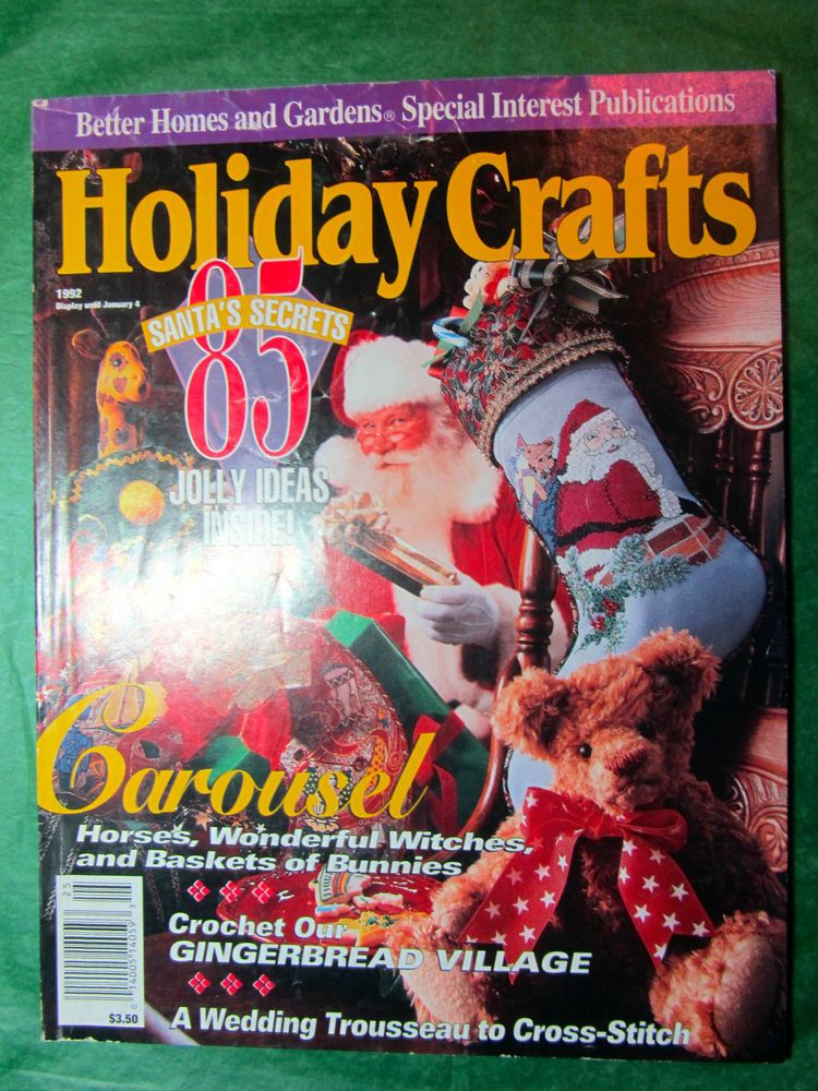 1 vintage better homes gardens holiday crafts magazine Better homes and gardens christmas special