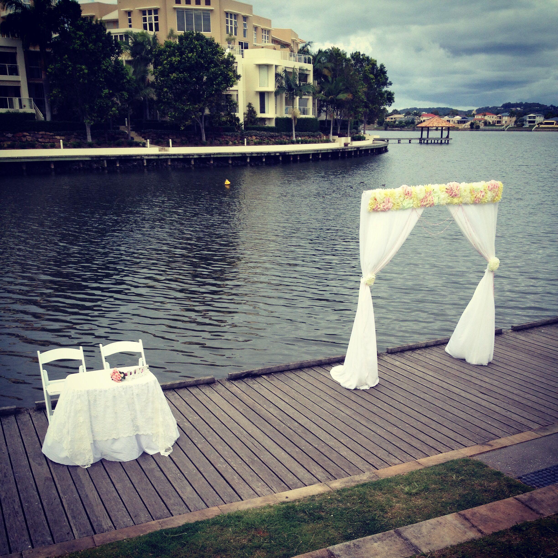 Wedding Ceremony for Jade & Matthew at Market Square, Varsity Lakes   Styling by www.breezeweddings.com.au #marketsquarewedding #varsitylakeswedding #varsitylakes #marketsquare #wedding #breezeweddingsaustralia