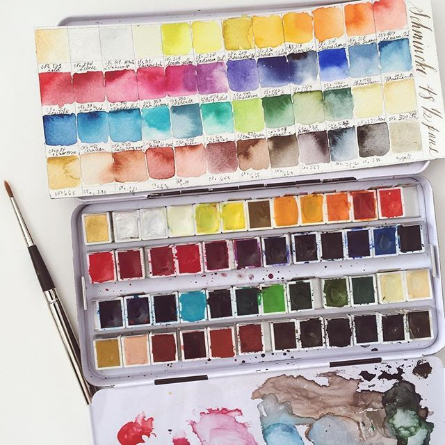 I M Painting A Color Chart For Each Of My Watercolor Sets Such A