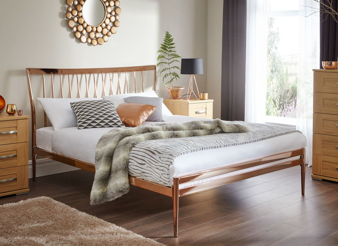 Introducing our first ever copper plated bed, the Blake is