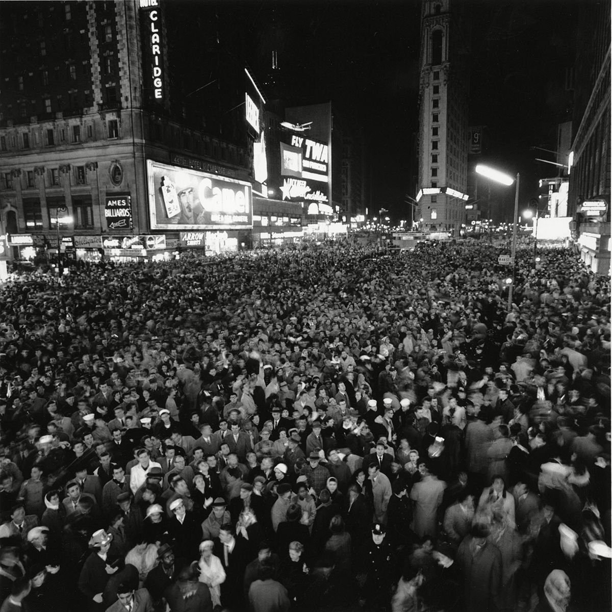 What New Year's Eve in Times Square Looked Like Through