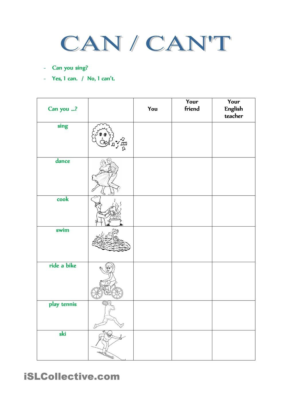Can Can T English Grammar For Kids English Classroom English Worksheets For Kids [ 1440 x 1018 Pixel ]