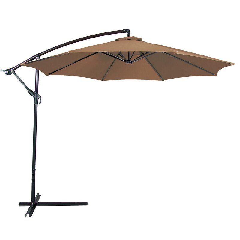 Bormann 10 Cantilever Umbrella In 2020 Offset Patio Umbrella Patio Umbrella Patio Furniture Umbrella