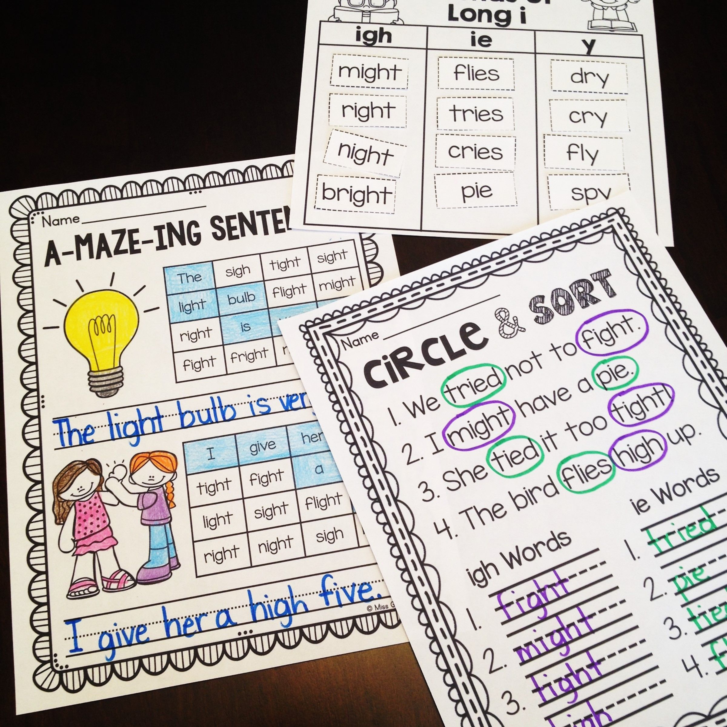 Uncategorized Igh Worksheets igh and ie worksheets activities no prep fun phonics awesome that are actually differentiated these practice but