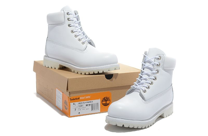 Timberland Boots White Cream For Women