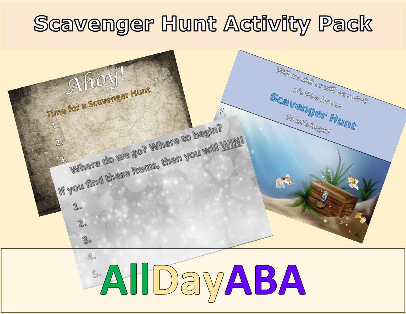 Scanger Hunt Activity Pack