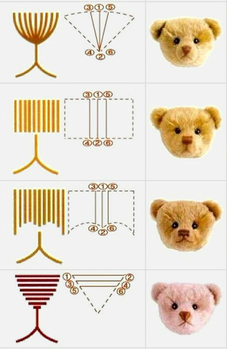 Variants of a teddy bear nose embroidery | DIY and Tutorials