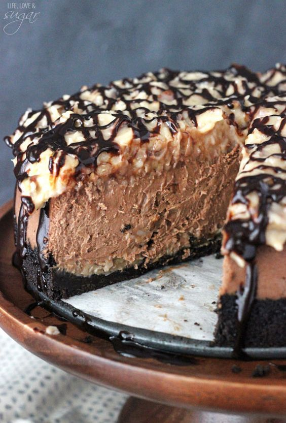 recipe German chocolate cheesecake