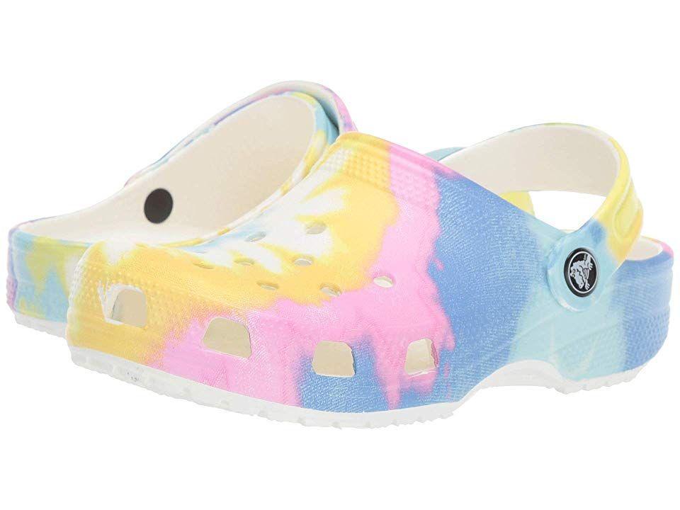 Crocs Kids Classic Tie-Dye Graphic Clog