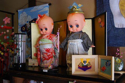 キューピーの市松人形