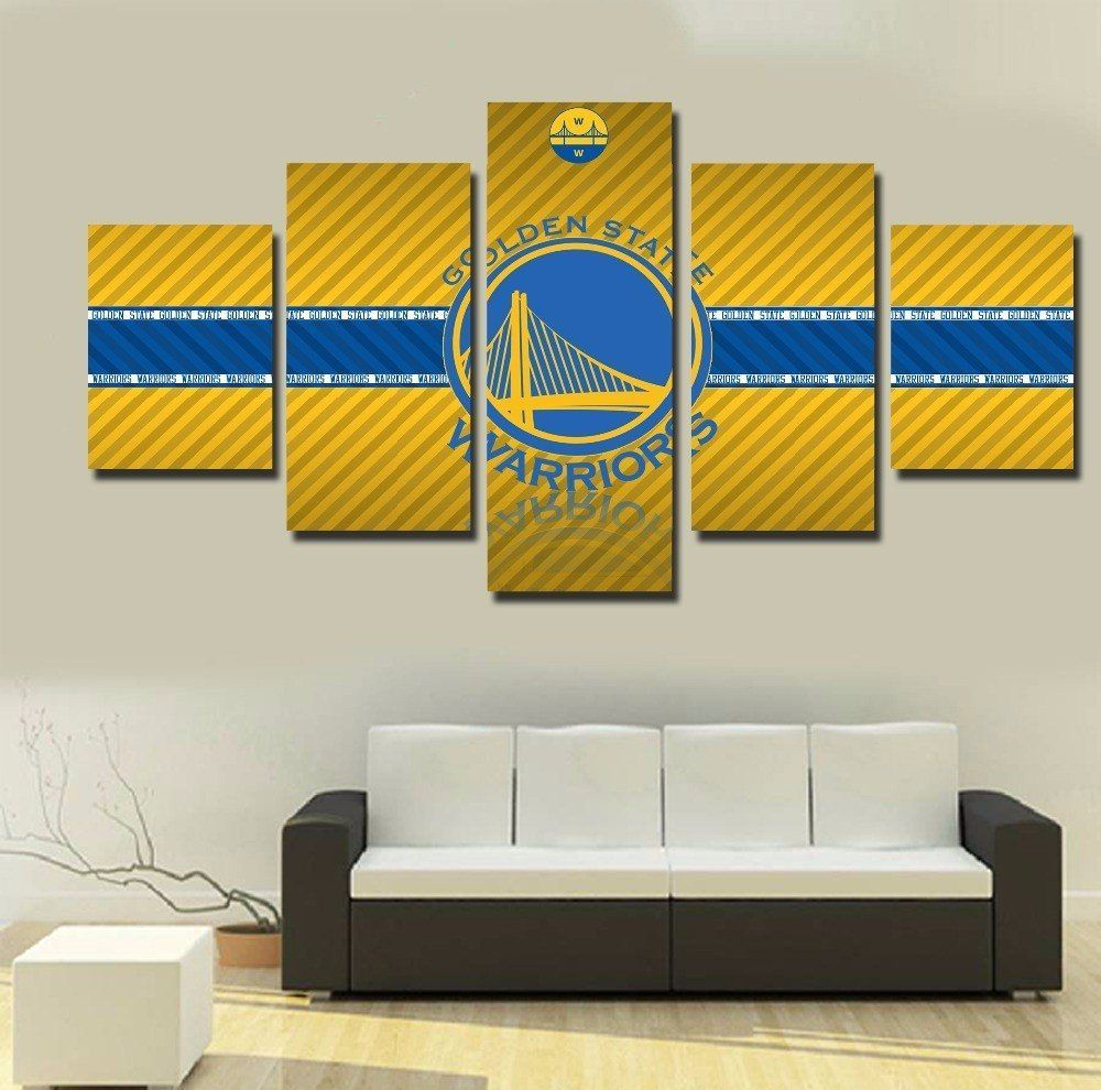 5 Panel Framed Golden State Warriors NBA Wall Art Canvas | Pinterest ...