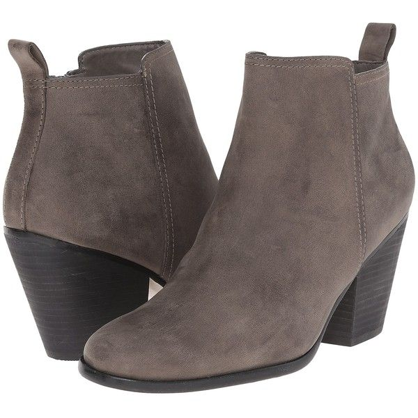 Cole Haan Chesney Bootie (Greystone Leather) Women's Zip Boots ($120) ❤  liked
