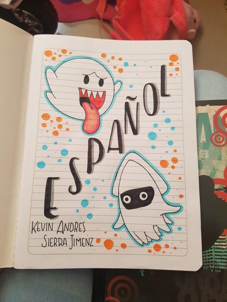 Cuaderno Espanol Portada De Cuaderno De Dibujos Portada De Cuaderno De Ciencias Marcas De Cuadernos