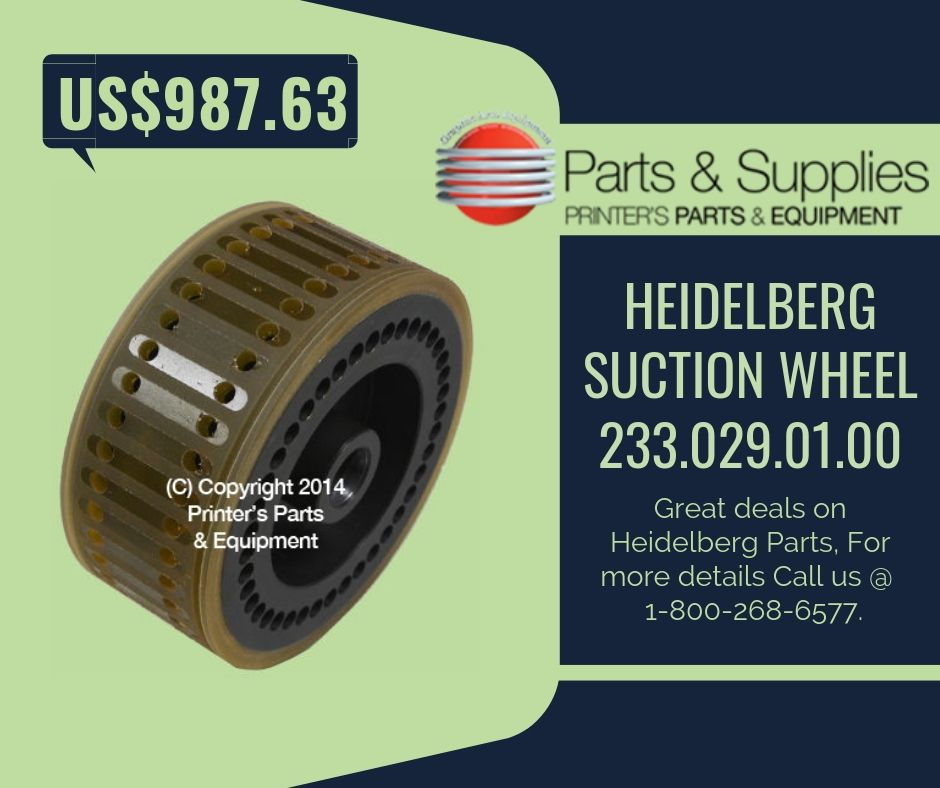 Heidelberg Suction Wheel 233 029 01 00 | Heidelberg Parts