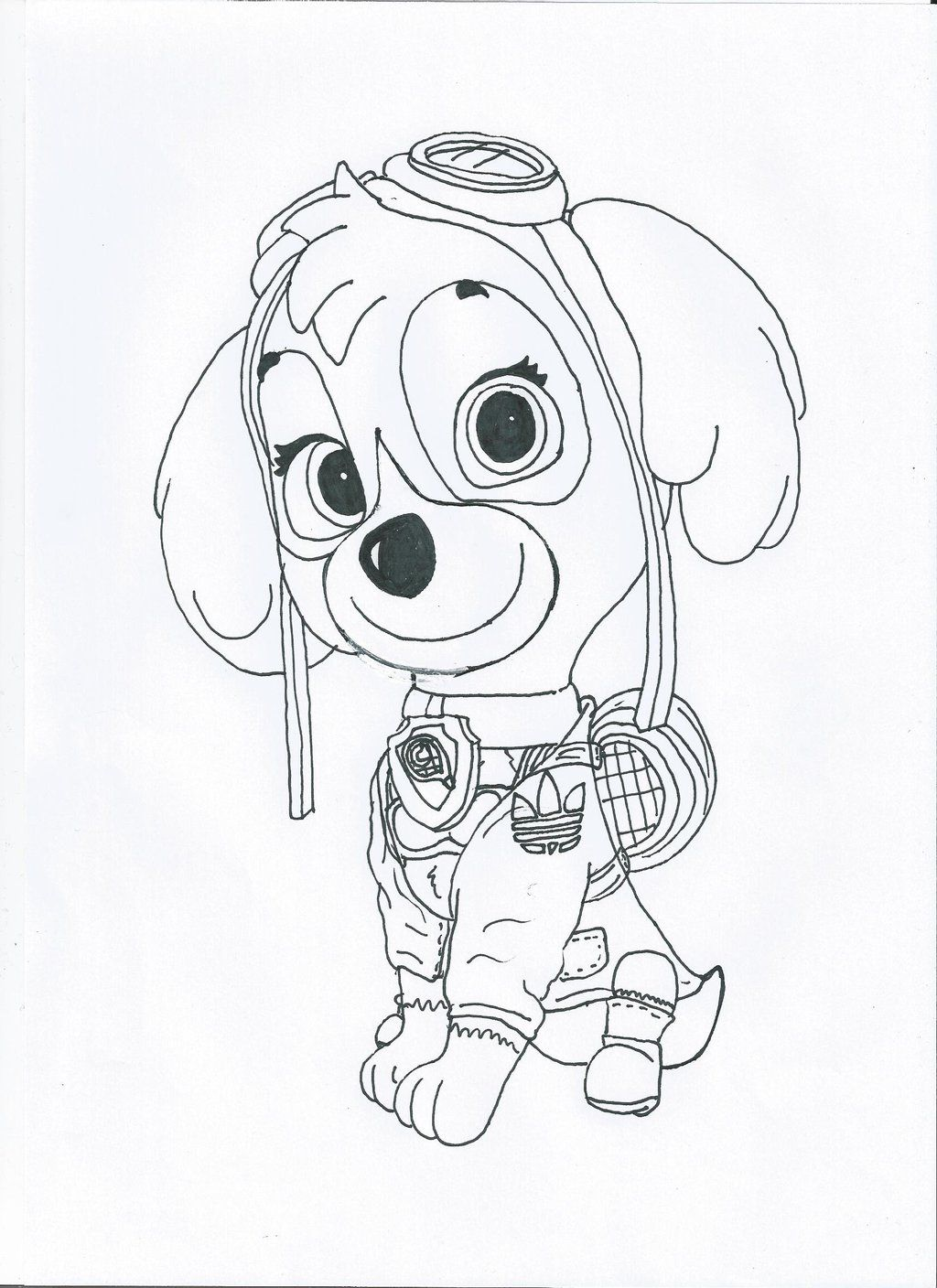 Paw patrol coloring pages robo dog - Paw Patrol Coloring