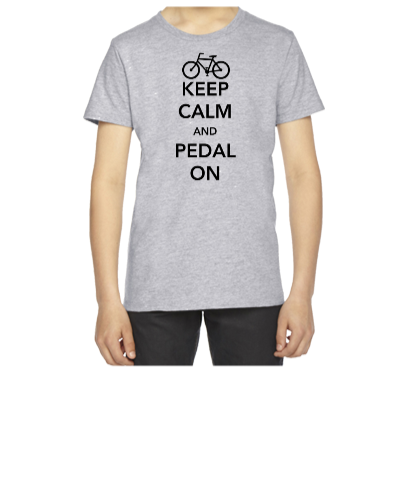 Keep Calm and Pedal On - Youth T-shirt