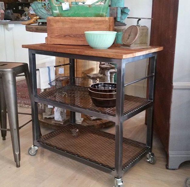 Roots Rack Industrial Kitchen Cart: •déco Intérieur/extérieur