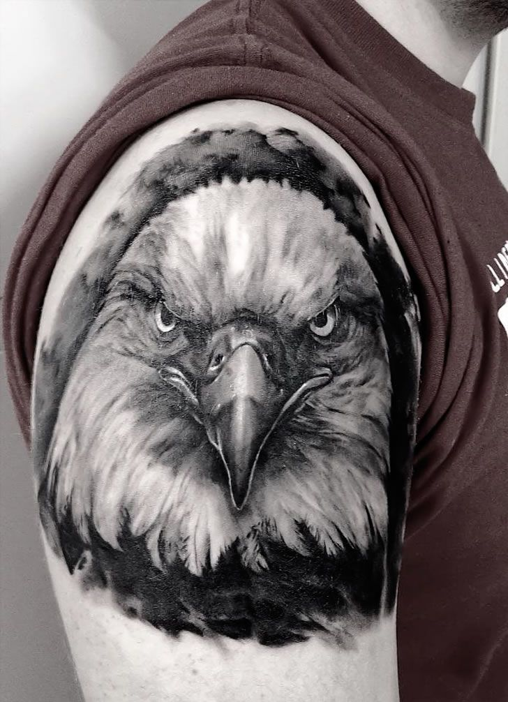 bald eagle tattoo. Black Bedroom Furniture Sets. Home Design Ideas