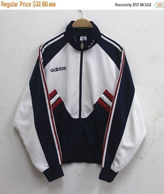 Año nuevo venta Adidas chaqueta Vintage Adidas por ...
